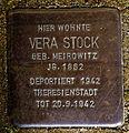 Stolperstein Solingen Grünewalder Str. 3 Vera Stock.jpg