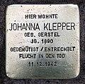 Stolperstein Teutonenstr 23 (Nikol) Johanna Klepper.jpg