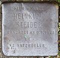 Stumbling block for Heinrich Steiger (Schnurgasse 42)