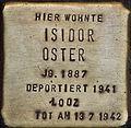 Stolpersteine Köln Blumenthalstrasse 15 Isidor Oster.jpg