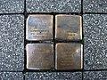 Stolpersteins Karl Kaufmann, Ludwig Kaufmann, Ruth Kaufmann, Erna Kaufmann Crossing Friedrich-Breuer-Straße, Gottfried-Claren-Straße Bonn.JPG