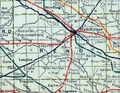 Stouffer's Railroad Map of Kansas 1915-1918 Reno County.png