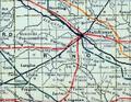 Stouffer's Railroad Map of Kansas 1915-1918 Reno County.png