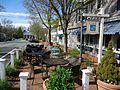 Street scene Basking Ridge New Jersey plants and shops.JPG