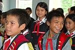 Students enjoy their new school (5686007403).jpg