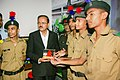 Subhash Ramrao Bhamre with the cadets from various Sainik Schools, at the inauguration of the 48th All India Sainik School (AISS) Principals' Conference, at Sainik School Kunjpura, Haryana.JPG