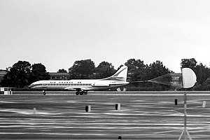 Berlin Tegel Airport - Air France Sud-Aviation Caravelle landing at Berlin Tegel Airport in 1964