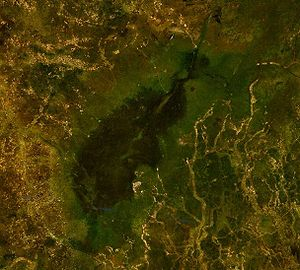 Satellitenbild des Maleit-Sees