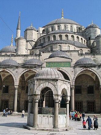 Semi-dome - Image: Sultan Ahmed Mosque 02