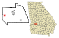 Sumter County Georgia Incorporated and Unincorporated areas Plains Highlighted.svg
