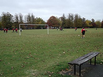 Duppas Hill - Sunday football on Duppas Hill Recreational Ground