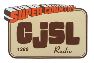 """CJSL - The logo used by CJSL in the 1980s and early 1990s, then known as """"Super Country CJSL""""."""