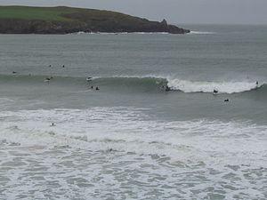 Harlyn - Surfers at Harlyn Bay