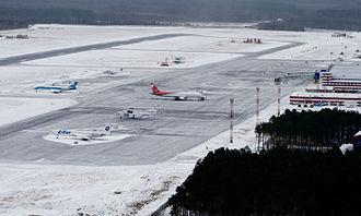 Surgut International Airport - Aircraft parked at Surgut Airport.