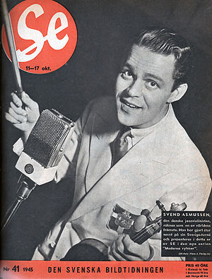 Svend Asmussen - Svend Asmussen on the cover of  the Swedish weekly Se 1945