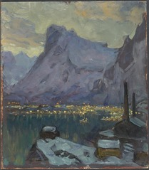 Svolvaer Harbour at the Height of the Fishing Season.Study from Lofoten