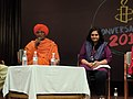 Swami Agnivesh (left) at an Amesty Event in New Delhi. Teesta Setalvad (right) also pictured.jpg