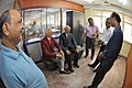 Swapan Kumar Roy With NCSM Officers Watching Watson And Crick Models - NCSM - Kolkata 2016-08-22 6042.JPG