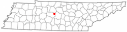 Location of Nolensville, Tennessee