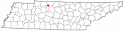 Location of Pleasant View, Tennessee