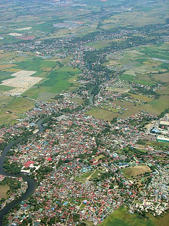 Tanza, Cavite - Aerial view of Tanza, with Gen. Trias in the background.