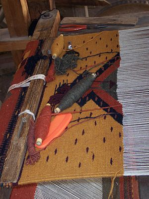 Textiles of Oaxaca - A work in progress on a stationary loom