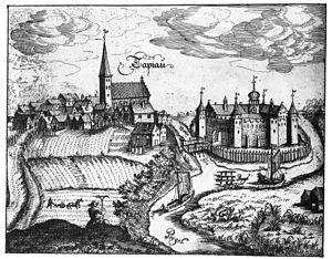 Gvardeysk - 16th century depiction of Tapiau