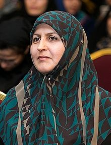 Tayyebeh Siavoshi at Hassan Rouhani's campaign women rally in Tehran, 29 April 2017.jpg