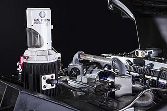 DeLorean time machine - A replica of the DeLorean time machine's Mr. Fusion Home Energy Reactor