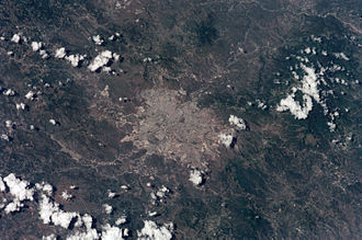 Tegucigalpa - Satellite view of Tegucigalpa
