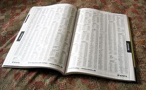 a phone / telephone book / directory
