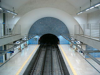 Green Line (Lisbon Metro) line on the Lisbon Metro