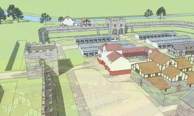 Delwedd:Templeborough Roman Fort visualised 3D flythrough - Rotherham.webm