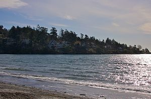 Ten Mile Point, British Columbia -  Ten Mile Point, as seen from the beach on Cadboro Bay