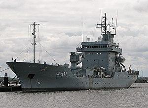 Elbe-class replenishment ship - Image: Tender Elbe A511
