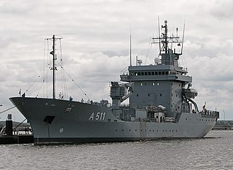 Elbe-class replenishment ship - Image: Tender Elbe A511