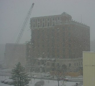 Terre Haute House - Demolition of the north wing; December 2005