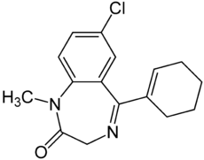 Strukturformel von Tetrazepam