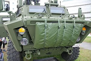 Textron Tactical Armoured Patrol Vehicle - Front view of TAPV.