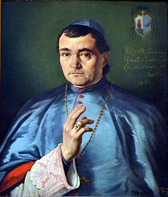 Thaddeus Amat y Brusi - Portrait of Bishop Thaddeus Amat at the San Fernando Mission in California