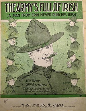 The Army's Full Of Irish (A Man From Erin Never Runs, He's Irish) - Sheet music cover