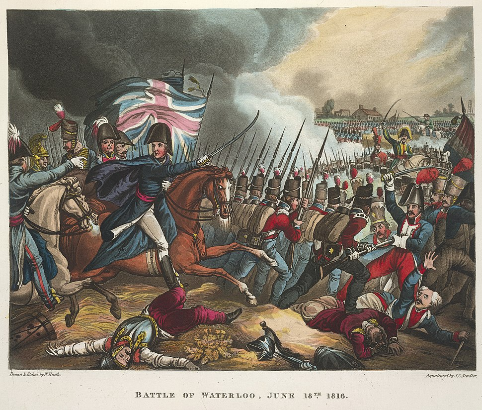 The Battle of Waterloo, June 18th 1815 - The wars of Wellington, a narrative poem (1819), before 169 - BL
