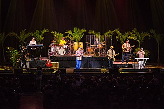 The Beach Boys live performances - Mike Love (far left) and Bruce Johnston (far right) performing as the Beach Boys in 2014