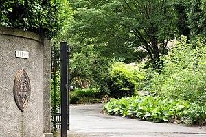 Dunthorpe, Oregon - Entrance to Elk Rock Gardens of the Bishop's Close in Dunthorpe