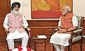 The Chief Minister of Punjab, Shri Parkash Singh Badal calling on the Prime Minister, Shri Narendra Modi, in New Delhi on August 31, 2015 (1).jpg