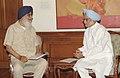 The Chief Minister of Punjab, Shri Prakash Singh Badal calls on the Prime Minister, Dr. Manmohan Singh, in New Delhi on April 15, 2013 (1).jpg