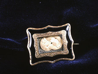Brooch - A hair brooch from the 19th century, in the collection of The Children's Museum of Indianapolis