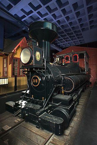Reuben Wells (locomotive) - Reuben Wells from the proper left