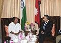 The Defence Minister, Shri A. K. Antony meeting the Prime Minister of Nepal, Dr. Baburam Bhattarai, in New Delhi on October 22, 2011.jpg