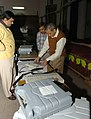 The Election Official checking the Electronic Voting Machine for the Delhi Assembly Elections-2008, in New Delhi on November 28, 2008.jpg
